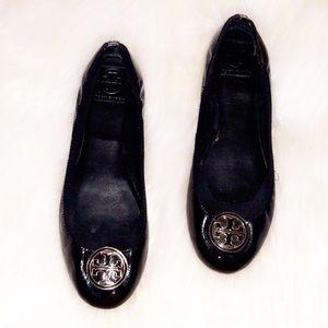 "TORY BURCH ""Caroline"" Patent Leather Flats 11"